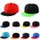 Opromo Plain Two-Tone Flat Bill Snapback Hat - Adjustable Hiphop Trucker Cap Mens Trucker Hat, Price/piece