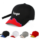 Custom Flame Brim Baseball Cap Adjustable Racing cap With Embroidered Flames