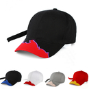 Opromo Flame Brim Baseball Cap Cotton Racing cap with Embroidered Flames