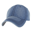 Opromo Retro Dad Hat Adjustable Plain Denim Baseball Cap Polo Style Low Profile