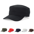Opromo Cotton Twill Corps Hat Adjustable Army Cadet Cap Military Hat