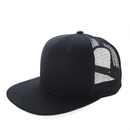 Custom 6 Panel Two-Tone Flat Bill Trucker Cap Adjustable Snapback Baseball Cap