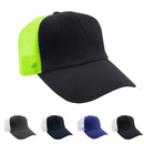Opromo Mens Two Tone Mesh Trucker Baseball Cap,6 Panel Curved Ball Cap