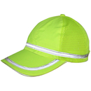 Opromo Hi-Vis Baseball Cap, Enhanced-viz Safety Hat with Reflective Stripe