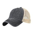 Opromo Vintage Washed Cotton Soft Mesh Adjustable Trucker Baseball Cap