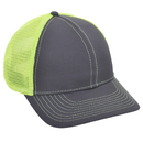 Opromo Plain Cotton Twill Structured Mesh Back Trucker Baseball Cap, Adjustable
