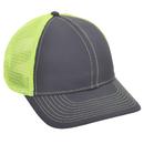 Opromo Plain Cotton Twill Structured Mesh Back Trucker Baseball Cap, Adjustable