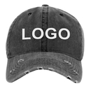 Custom Embroidery Vintage Washed Cotton Dad Hat Adjustable Polo Trucker Unisex Baseball Cap