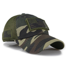 Opromo Camouflage Trucker Tactical Hat USA Flag Patch Baseball Cap