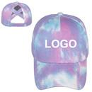Custom Criss Cross Tie Dye Ponytail Baseball Cap for Women,Womens Dyed Messy Hign Bun Ponytail Hat