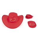Custom Foldable Nylon Cowboy Hat, One Color Printed