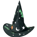Custom Folding Nylon Wizard hat, Party Accessory, Full Colors Printed