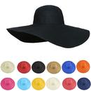 Opromo Women Ladies Wide Large Brim Cap Floppy Fold Summer Beach Sun Straw Hat