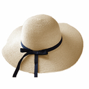 Opromo Women Floppy Wide Brim Flodable Bowknot Straw Hats Summer Beach Cap