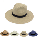 Opromo Havana Hat Mens Womens Straw Sun Hat Panama Fedora Beach Hat Straw Hat