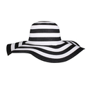 Opromo Women's Foldable Floppy Wide Brim Striped Straw Hat Summer Beach Sun Cap