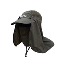 Custom UV Sun Protection Hat with Flap Neck Cover, Summer Hunting Fishing Hat