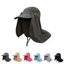 Opromo Summer Sun Protection Fishing Hat With Removable Neck & Face Flap Cover