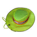 Custom Hi-Vis Ranger Hat, Reflective Mesh Top Bonnie Hat With Draw String Neck Strap