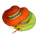Opromo High-Visibility Ranger Hat, Mesh Top Bonnie Hat Workman Reflector Cap