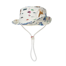 Opromo Kids Animal Cotton Bucket Hat Toddler Boys Sun Protection Cap with Chin Strap