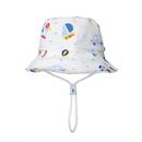 Opromo Baby Toddler Kids Cotton Bucket Hat Cartoon Dinosaur Animal Sun Protection Cap