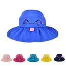 Opromo Kids Girls Wide Brim Visor Sun Hat Children UV Protection Foldable Beach Cap