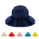 Opromo Children Waterproof Sunscreen Sun Hat Kids Beach Foldable Anti-UV Visor Cap