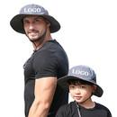 Custom Waterproof Bucket Sun Hat Wide Brim UV Sun Protection Hat for Kids Mens Boonie Sun Hat with Drawstring & Chin Strap