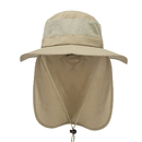 Opromo Unisex Summer Outdoor Mesh Sun Hat Wide Brim Fishing Hat Neck Flap Cap