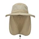 Opromo Unisex Summer Outdoor Mesh Sun Hat Wide Brim Fishing Hat Neck Flap Cap