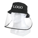 Custom Cotton Bucket Sun Hat with Removable Clear Flexible Face Cover,Protective Face Shield for Adult Kids