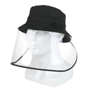 Opromo Protective Face Shield for Adult Kids, Unisex Cotton Bucket Sun Hat with Removable Clear Flexible Face Cover