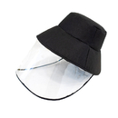 Opromo Protective Face Shield, Unisex Bucket Sun Hat with Clear Flexible Face Cover