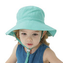 Opromo Baby Kids Toddler Girls Boys Bucket UV Sun Protection Hat with Adjustable Dtrawstring & Chin Strap