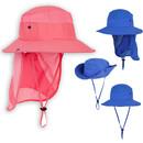 TOPTIE Kids Unisex UV Sun Protection Hat W/ Removable Neck Flap & Adjustable Chin Strap,Wide Brim  Flap Sun Hat for Boys Girls