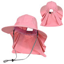 Womens Ponytail Sun Hat with Neck Flap UV Protection Wide Brim Beach Fishing Hat, Waterproof Quick-Dry Sarafi Flap Cap