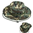 Opromo Wide Brim Boonie Hat Summer Outdoor Camouflage Safari Bucket Sun Hat for Beach Men Women