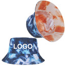 Custom Reversible Tie Dyed Bucket Sun Hat for Men Women UV Sun Protection Beach Sun Cap
