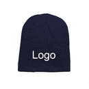 Customized Heavy Knitted Beanie Cap, 100% Acrylic, Long Leadtime