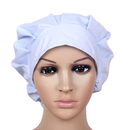 Opromo Solid Scrub Hat Bouffant Scrub Cap Sanitary Cap for Women's Long hair
