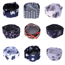 Opromo Fashion Printed Mesh Top Chef Cap Professional Catering Beanie Chefs Hat