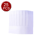 (Piece/25pieces) Opromo Disposable Paper Chef Tall Hat Home Kitchen Cooking Hat