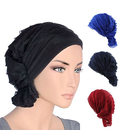 Opromo Women's Ruffle Chemo Hat Head Beanie Scarf Cap Turban Headwear for Cancer
