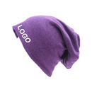 Custom Women Men Cotton Stretch Slouchy Beanies Hats Soft Sleep Cap for Hairless