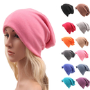 Opromo Unisex Cotton Stretch Slouchy Beanies Hats Soft Sleep Cap for Hairless