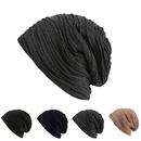 Opromo Mens Womens Slouch Wrinkled Beanie Cap Slouchy Skull Hat Turban Headwear