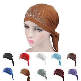 81eab526dcb Opentip.com  Opromo Women Scarf Pre Tied Chemo Hat Beanie Turban Headwear  for Cancer Patients