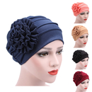Opromo Womens Elegant Strench Side Flower Pleated Muslim Turban Chemo Cancer Cap