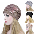 Opromo Women Lace Flower Slouchy Beanie Hat Chemo Cancer lady Skullies Turban Cap